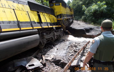 Train Derailment on the West Branch of the Delaware River