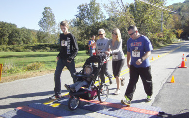 5K Group crossing the finish line