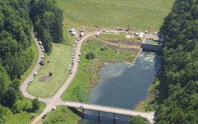 bird's eye view of reservoir
