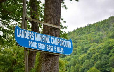 lander's minisink campground sign