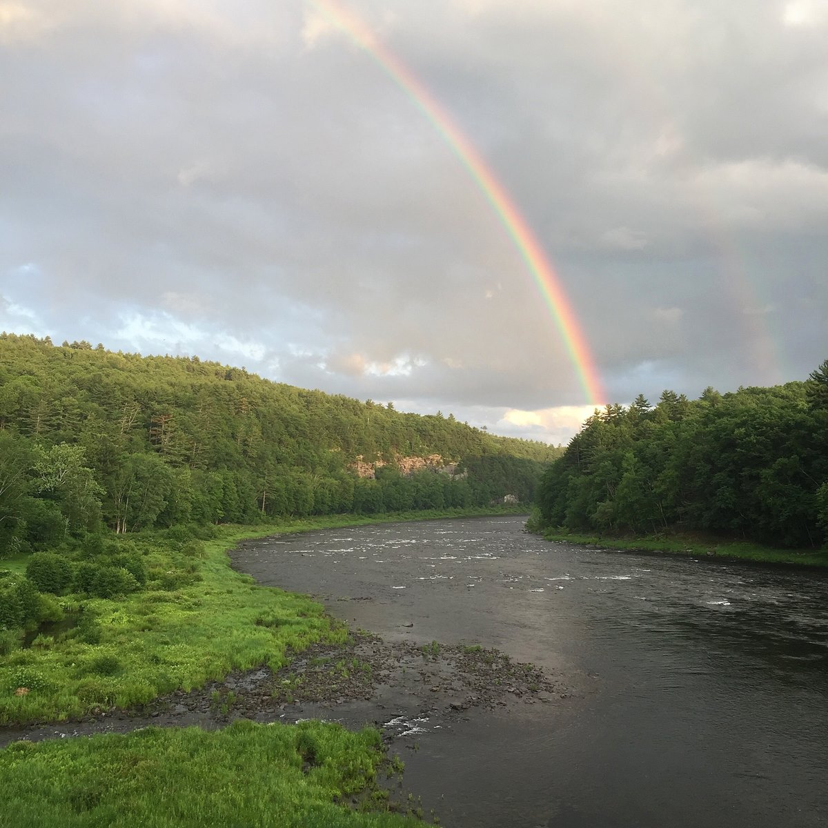 Delaware River with Rainbow - Scott Anderson -