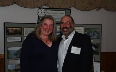 Kathleen Christie with UDC 2019 Volunteer Award winner Steven Schwartz