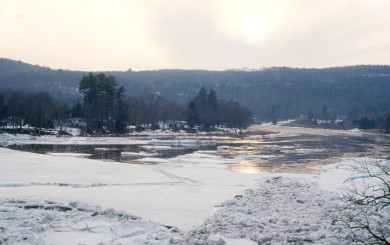 Ice Out in Narrowsburg, NY by David B. Soete