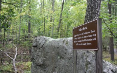 Indian Rock is just one feature found along the trail.