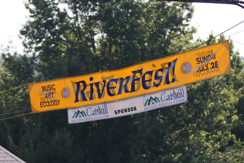 Narrowsburg RiverFest banner music, art, and ecology