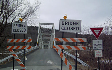Milanville bridge closure