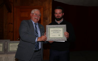 Sean McNeil recieves award