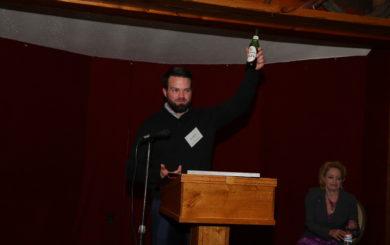 Sean McNeil raises a glass