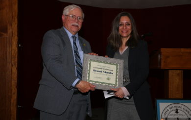Brandi Merolla receives award
