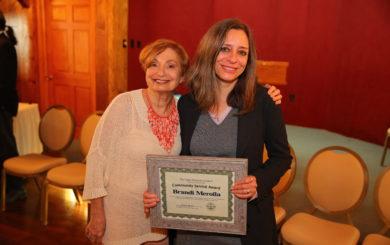 Service Award winner Brandi Merolla
