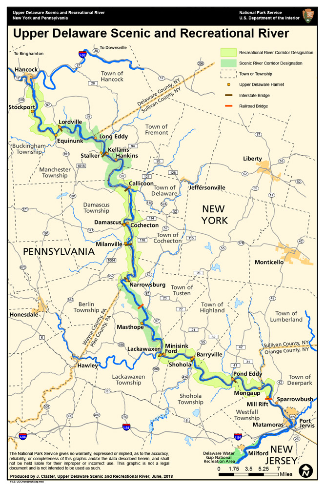 Upper Delaware Scenic and Recreational River Map