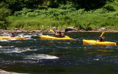 """Launch of """"100 Mile Paddle"""" on the Delaware River"""