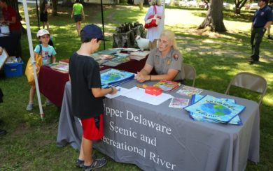 National Park service ranger at educational booth