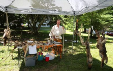 demonstration on animal trapping