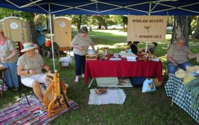 woodland weavers and spinners guild booth