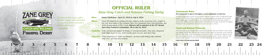 Zane Grey Catch-and-release-Ruler