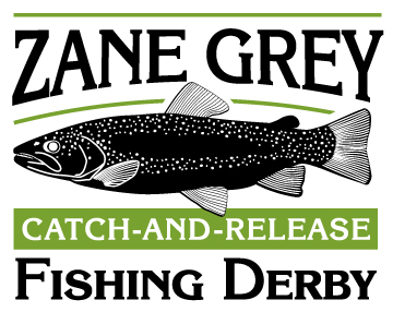 Zane Grey catch-and-release- fishing derby logo