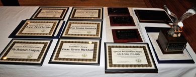 awards layout out to be presented