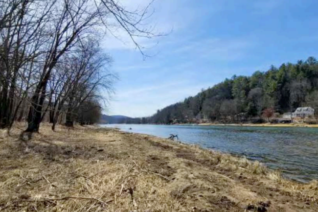 delaware river from east bank outside callicoon