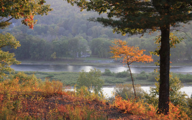The Delaware River in the Fall by David Soete
