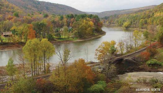 fall railroad overlook
