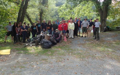 UDSRR Hosts River Clean-Up from Narrowsburg Access to the Ten Mile River Access