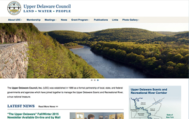 Upper Delaware Council Launches New Website