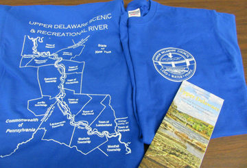 UDC Offers Upper Delaware T-shirts, Free Brochures, and Archival Newsletters
