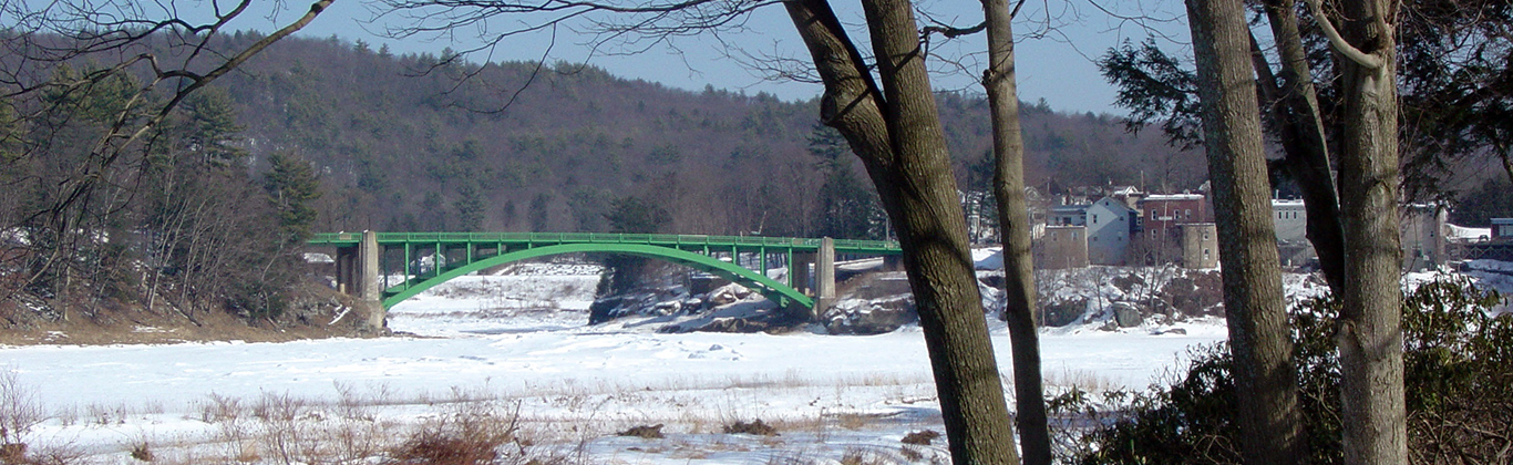 Winter in Narrowsburg overlooking the Delaware River