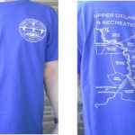 blue UDC T-shirt with a map of the UDSRR on it for sale